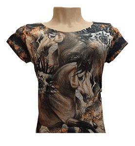 Camiseta Minuty Feminina Brown Horse MF2020BH