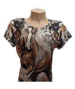 Camiseta Minuty Feminina Horse Paints MF2020HP