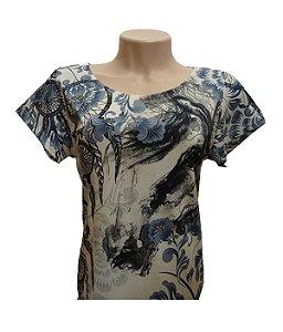 Camiseta Minuty Feminina Floral Blue MF2020FB