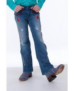 Calça Jeans Zenz Western Deeps Purple Kids Zw0118043