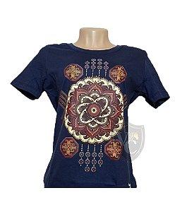 Camiseta Smith Brothers Feminina Azul Marinho SBTF2101