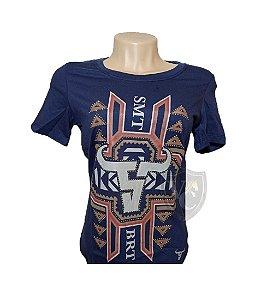 Camiseta Smith Brothers Feminina Azul Marinho SBTF2108