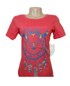 Camiseta Smith Brothers Feminina Coral SBTF2111