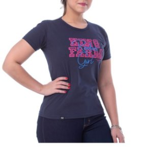 Camiseta King Farm Feminina Azul Marinho GCF80