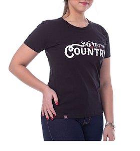 Camiseta King Farm Feminina Preto GCF08