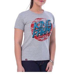 Camiseta King Farm Feminina Cinza GCF74