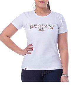 Camiseta King Farm Feminina Branco GCF12