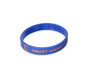 Pulseira Silicone Smart Choice Azul PUL3685