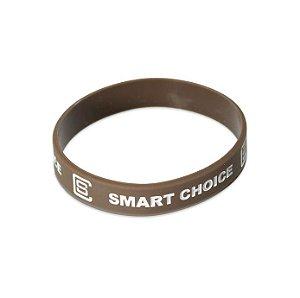 Pulseira Silicone Smart Choice Marrom PUL3683