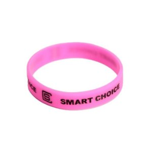 Pulseira Silicone Smart Choice Rosa PUL3688