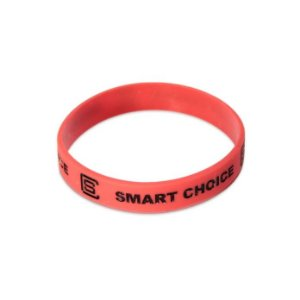 Pulseira Silicone Smart Choice Vermelha PUL3681