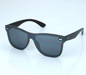 Óculos Tuff Quadrado Lente Preta Aste Fosca SUN3809