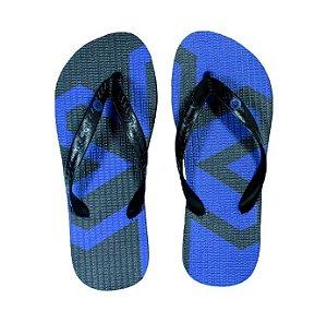 Chinelo Tuff Preto Estampado Azul CHI3230