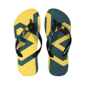 Chinelo Tuff Amarelo Estampado Cinza CHI3235