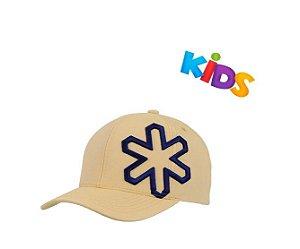 Boné Tuff Buzz Infantil Amarelo Logo Marinho CAP2245