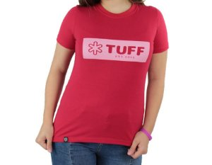 Camiseta Tuff Feminina Vermelha Silk Rosa TS3502