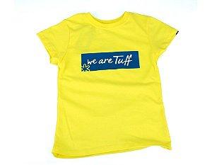 Camiseta Tuff Infantil Amarela Silk Azul TS3622