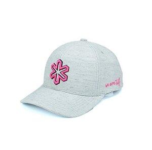 Boné Tuff Luna Cinza Bordado Pink CAP3660