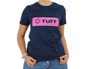 Camiseta Tuff Feminina Marinho Silk Pink TS3512