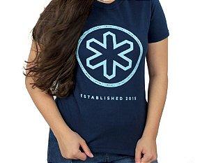 Camiseta Tuff Feminina Azul Marinho Logo Azul TS3517