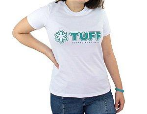 Camiseta Tuff Feminina Branca Silk Verde TS3547