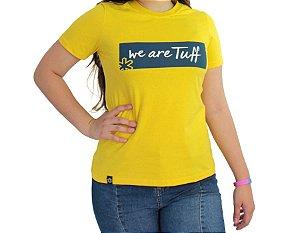 Camiseta Tuff Feminina Amarela Silk Azul TS3552