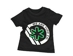 Camiseta Tuff Infantil Preta Logo Verde TS3590
