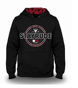 Moletom Stay Rude Masculino Preto SRM026