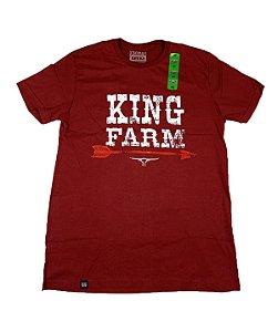 Camiseta King Farm Masculina Bordo GCM153B