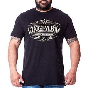 Camiseta King Farm Masculina Preto GCM180P