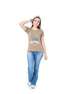 Camiseta Tatanka Feminina Marrom TTK0421102