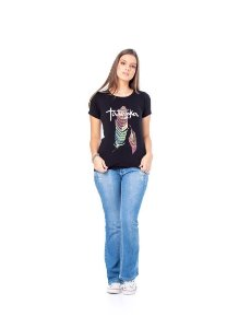 Camiseta Tatanka Feminina Preto Pena TTK0421103