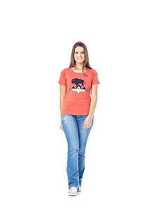 Camiseta Tatanka Feminina Salmão TTK0421110
