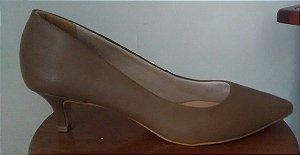 Scarpin couro vegetal liso marrom (Produto sem direito a troca)