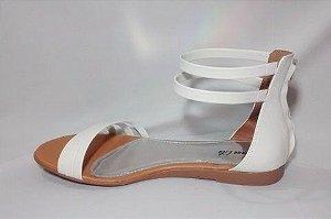 Sandália rasteira Grega Branca