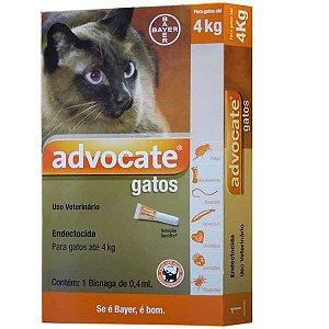 Antipulgas Advocate Bayer para Gatos de até 4 Kg - 0,4 ml