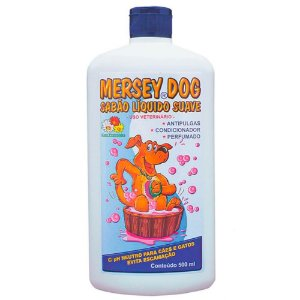Shampoo Mersey Dog Anti-Pulgas para Cães e Gatos 500ml