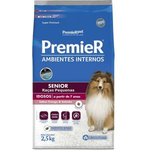 Ração Premier Ambientes Internos Cães Sênior - 2,5kg