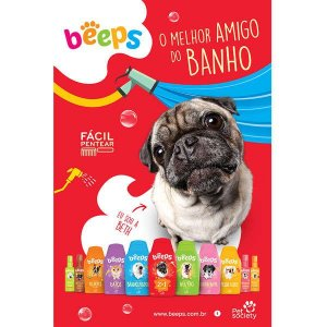 Shampoo Pet Society Beeps pelos curtos 2 em 1 - 500ml