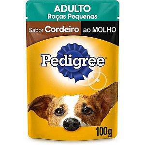 Pedigree Sachê Cordeiro ao Molho para Cães Adultos de Raças Pequenas