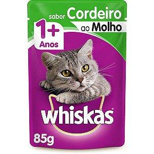 Whiskas Sachê Cordeiro ao Molho para Gatos Adultos