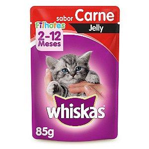Whiskas Sachê Jelly Carne Filhotes