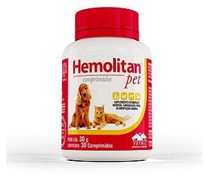 Suplemento Vetnil Hemolitan Pet - 30 comprimidos