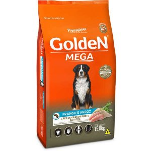 Ração Golden Cães Adultos Mega - 15 kg