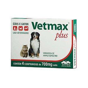 Vermífugo Vetmax Plus 700 mg - 4 Comprimidos