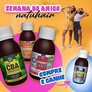 Compre e Ganhe -> Óleo de CBA + Biotina + Vitaminas A+E+B5 e ganhe um D-Pantenol 60ml