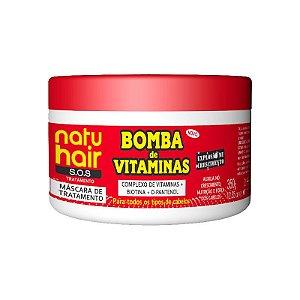 Máscara de Tratamento Bomba de Vitaminas S.O.S NatuHair 350g