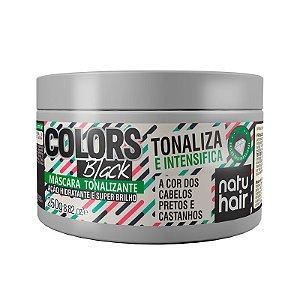 Máscara Tonalizante Colors Black NatuHair 250g