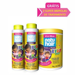 Kit Kids Vegano Vita Mais NatuHair.