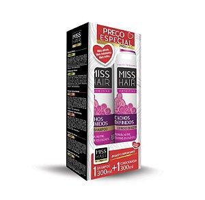 Kit Shampoo + Condicionador Cachos Definidos Miss Hair.